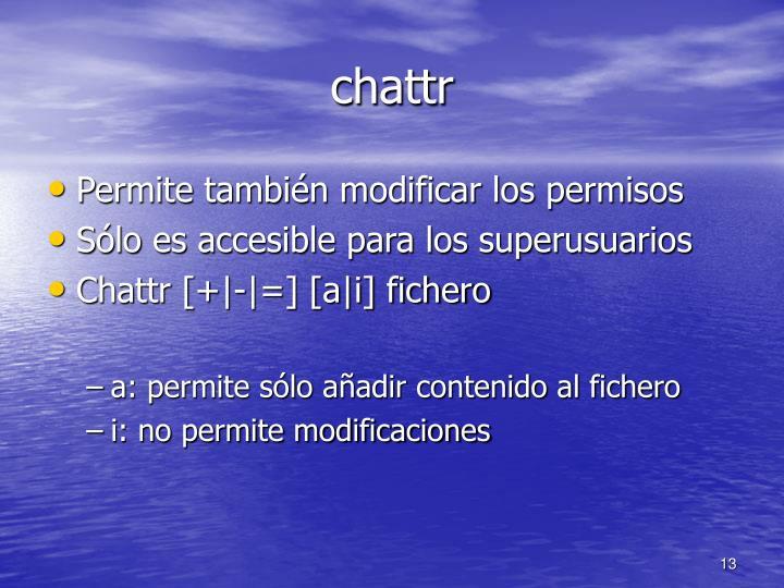 chattr