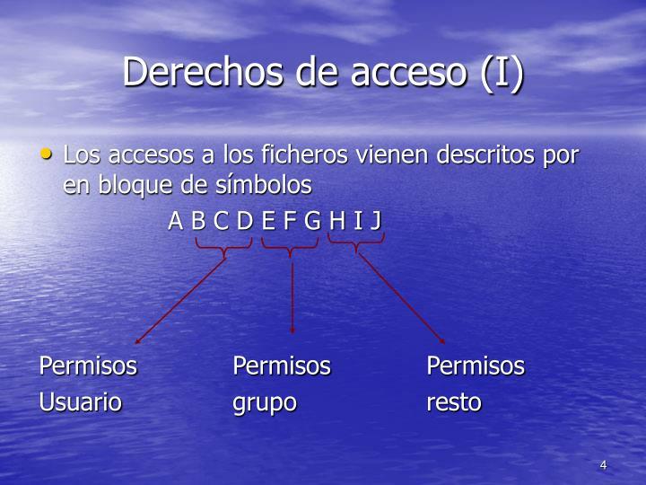 Derechos de acceso (I)