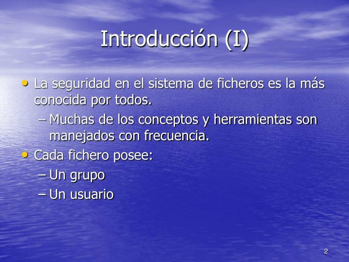 Introducción (I)