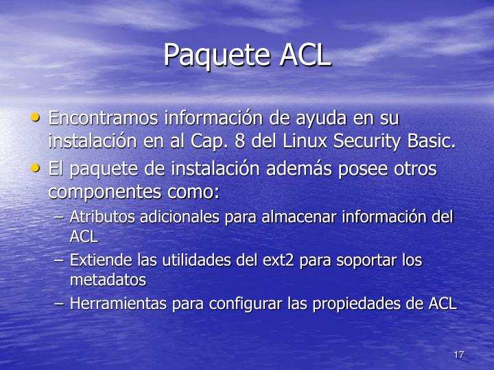 Paquete ACL