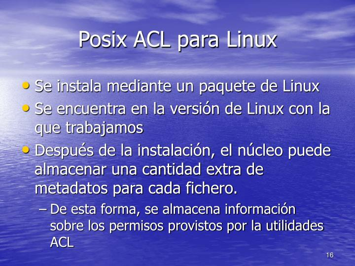 Posix ACL para Linux