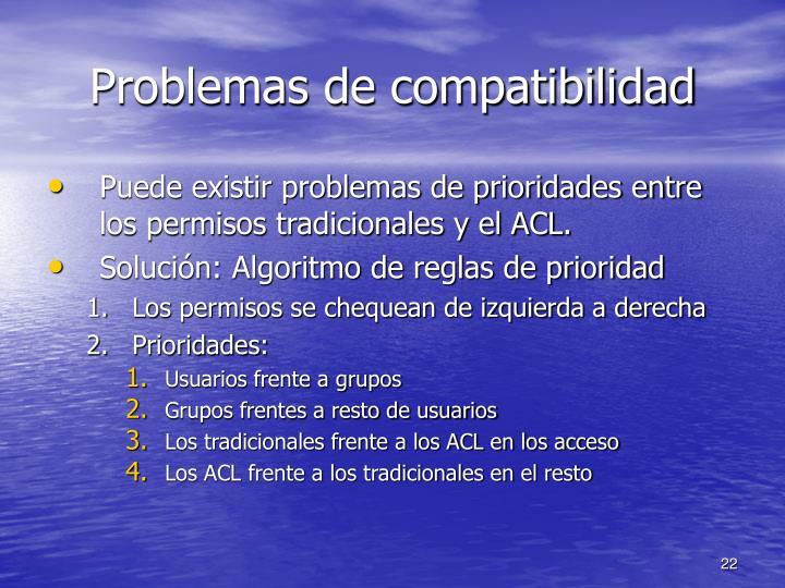 Problemas de compatibilidad