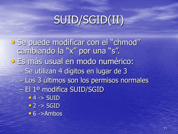SUID/SGID(II)