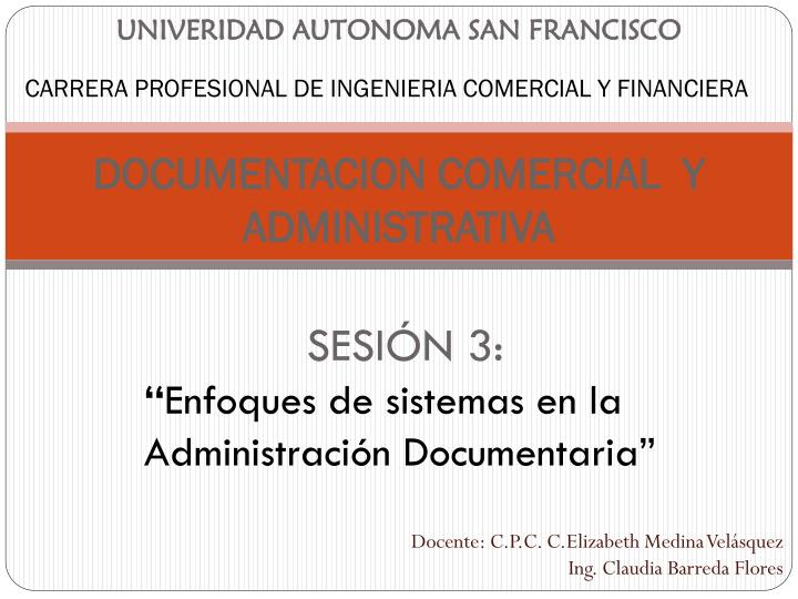 UNIVERIDAD AUTONOMA SAN FRANCISCO