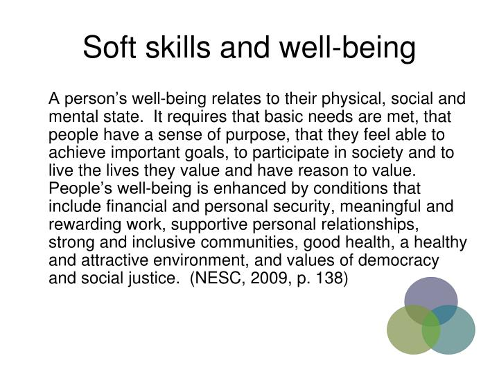 Soft skills and well-being