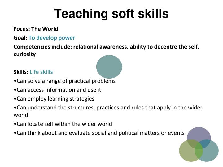 Teaching soft skills