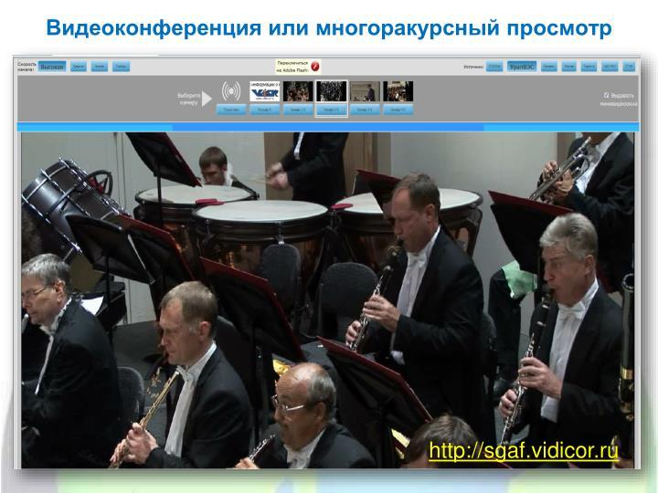 Видеоконференция или многоракурсный просмотр
