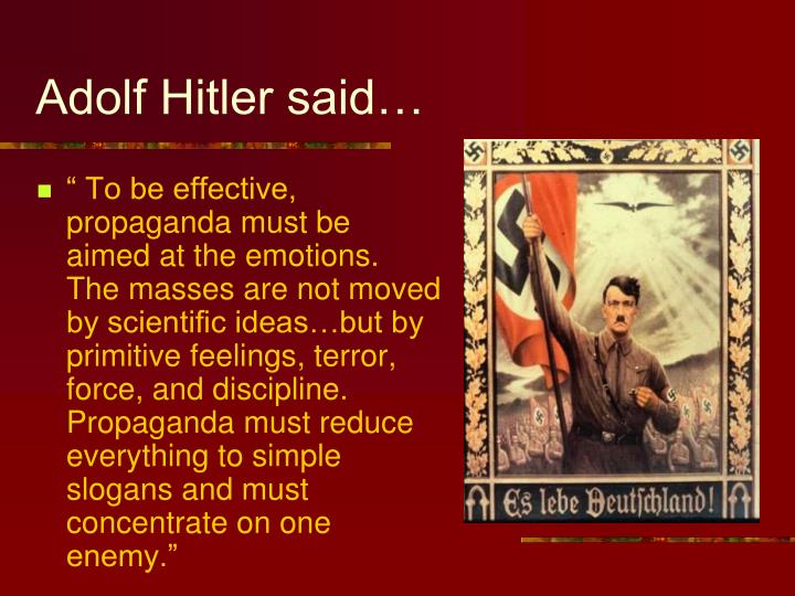 Adolf Hitler said…
