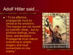 adolf hitler said