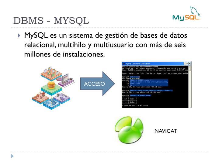 DBMS - MYSQL