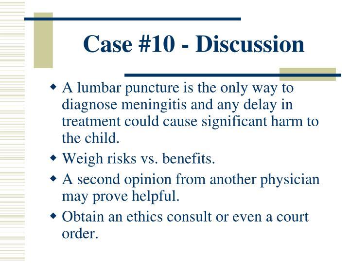 Case #10 - Discussion