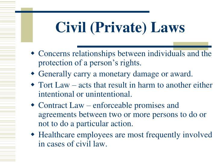 Civil (Private) Laws