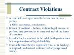 contract violations
