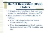 do not resuscitate dnr orders