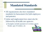 mandated standards2
