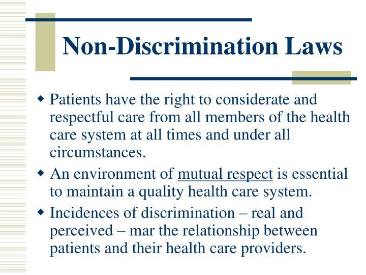 Non-Discrimination Laws