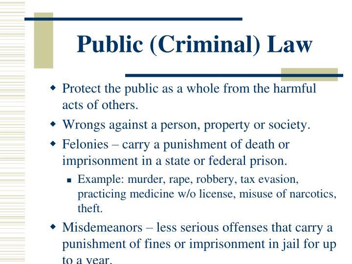 Public (Criminal) Law