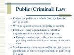 public criminal law