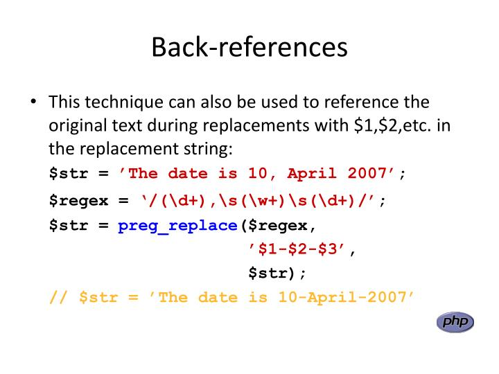 Back-references