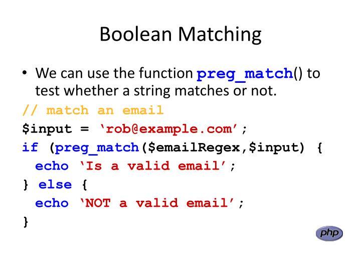 Boolean Matching