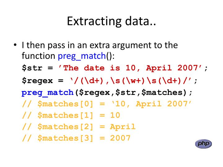 Extracting data..
