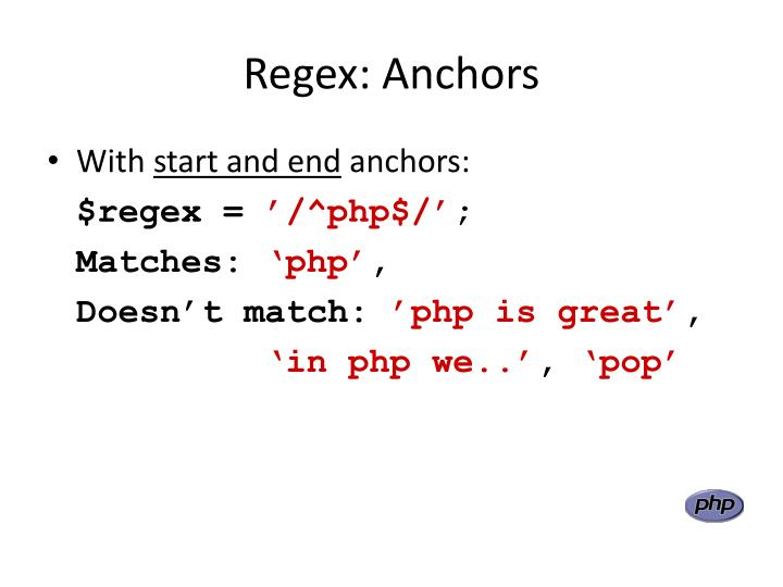 Regex: Anchors