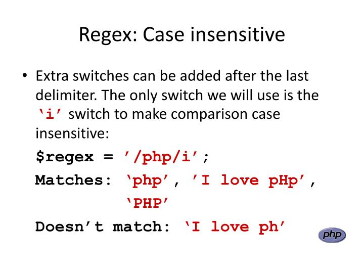 Regex: Case insensitive