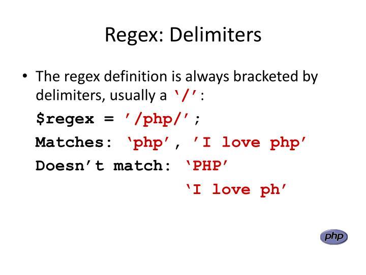 Regex: Delimiters