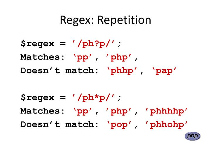 Regex: Repetition