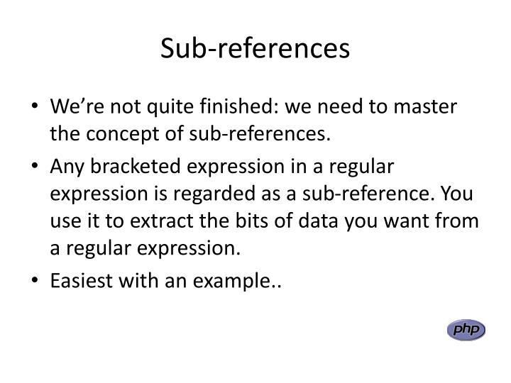 Sub-references