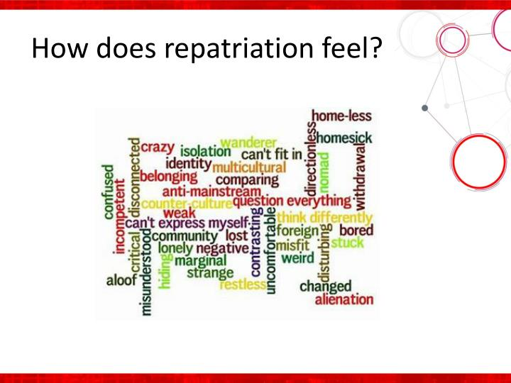How does repatriation feel
