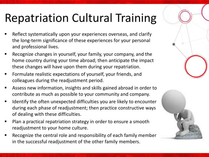 Repatriation Cultural Training