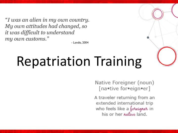 Repatriation Training