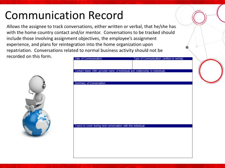 Communication Record