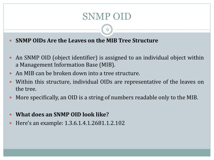 SNMP OID
