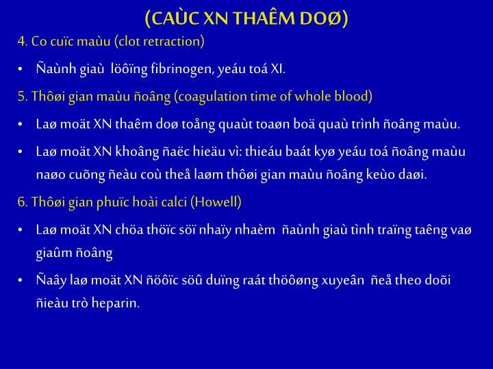 (CAC XN THAM DO)