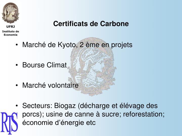 Certificats de Carbone