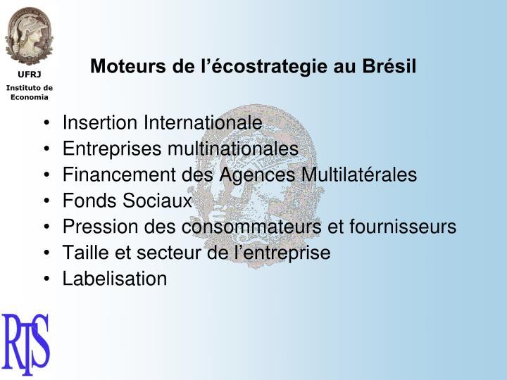 Moteurs de l'écostrategie au Brésil