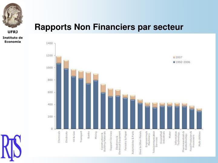 Rapports Non Financiers par secteur