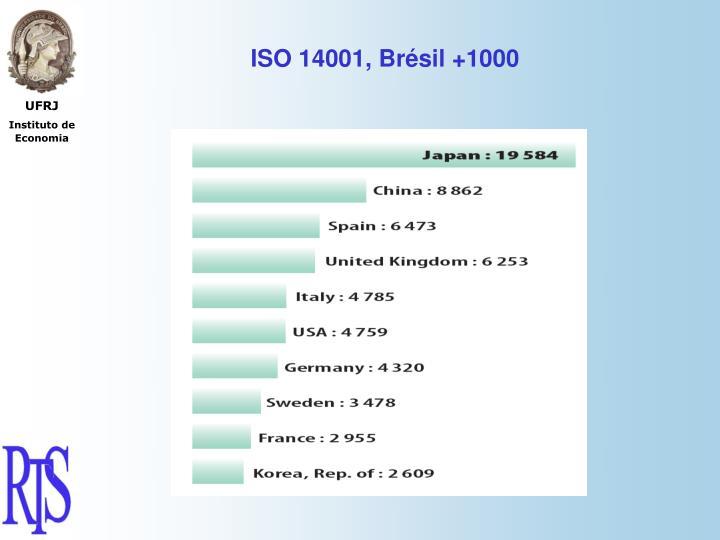 ISO 14001, Brésil +1000