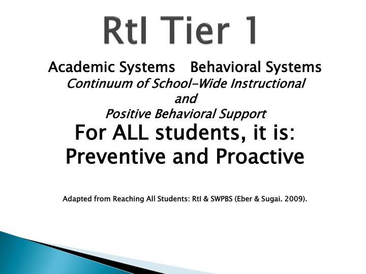 RtI Tier 1