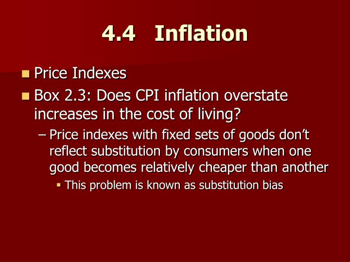 4.4   Inflation