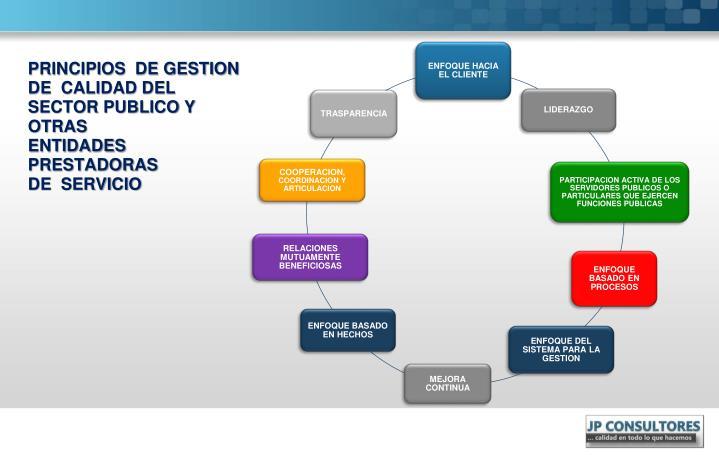 PRINCIPIOS  DE GESTION  DE  CALIDAD DEL  SECTOR PUBLICO Y  OTRAS