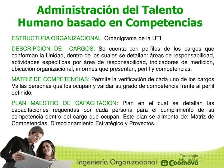 Administración del Talento Humano basado en Competencias