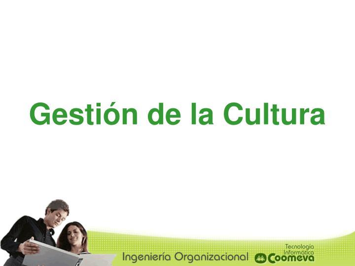 Gestión de la Cultura