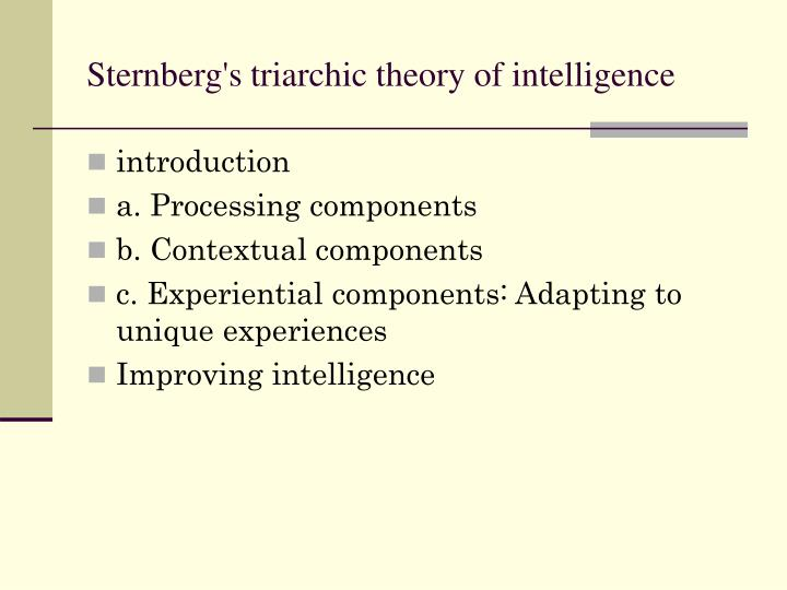 Sternberg theory of intelligence