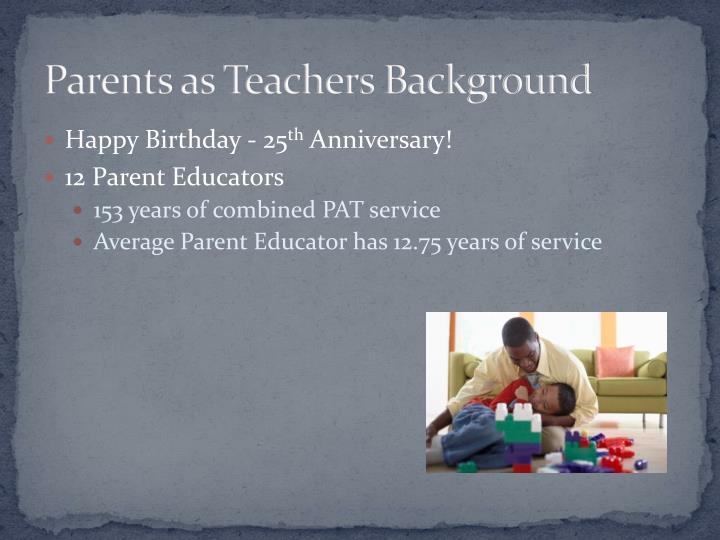 Parents as Teachers Background