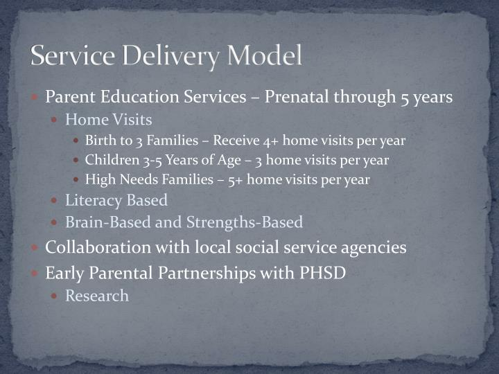 Service Delivery Model