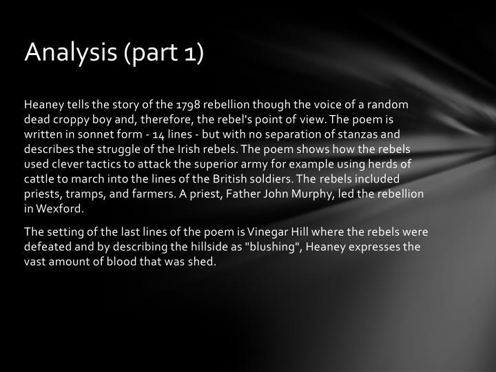 Analysis (part 1)