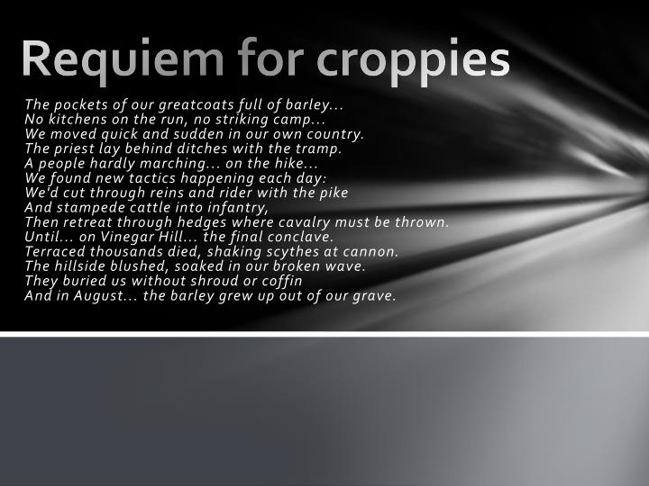 Requiem for croppies